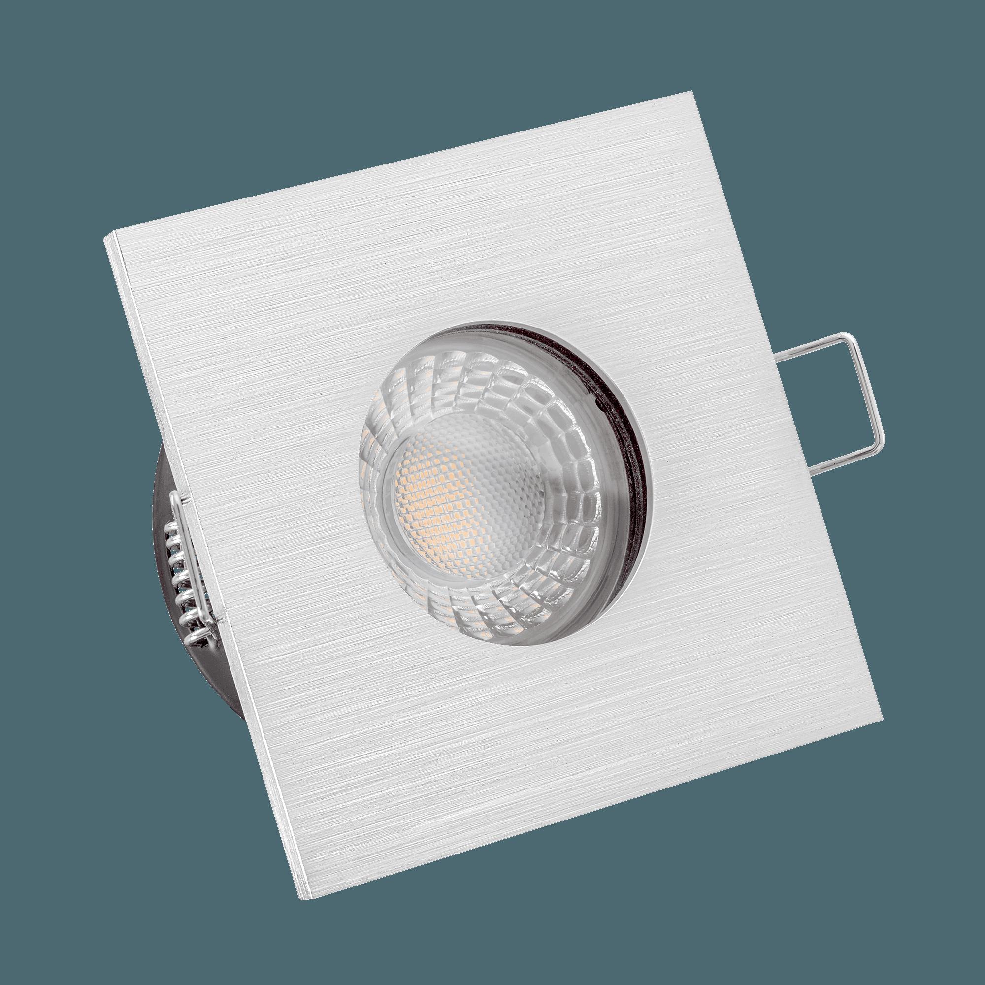 Knx Dali Kompatible Bad Led Einbaustrahler Extra Flach 35mm Dimmbar 6w Statt 70w Lista Aqua Geburstet 60 Aluminium Eckig Ip65