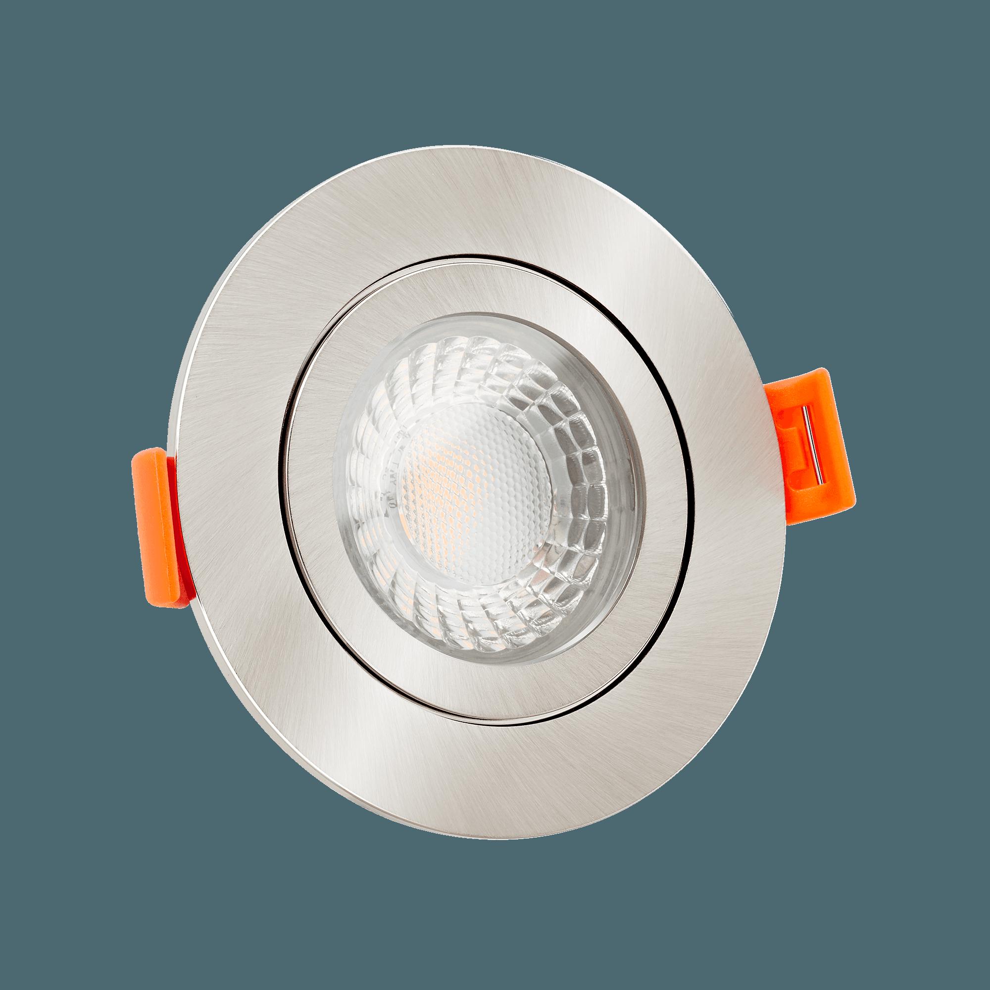 Bad LED-Einbaustrahler 230V nur 25mm flach dimmbare Lichtfarbe 1800 ...