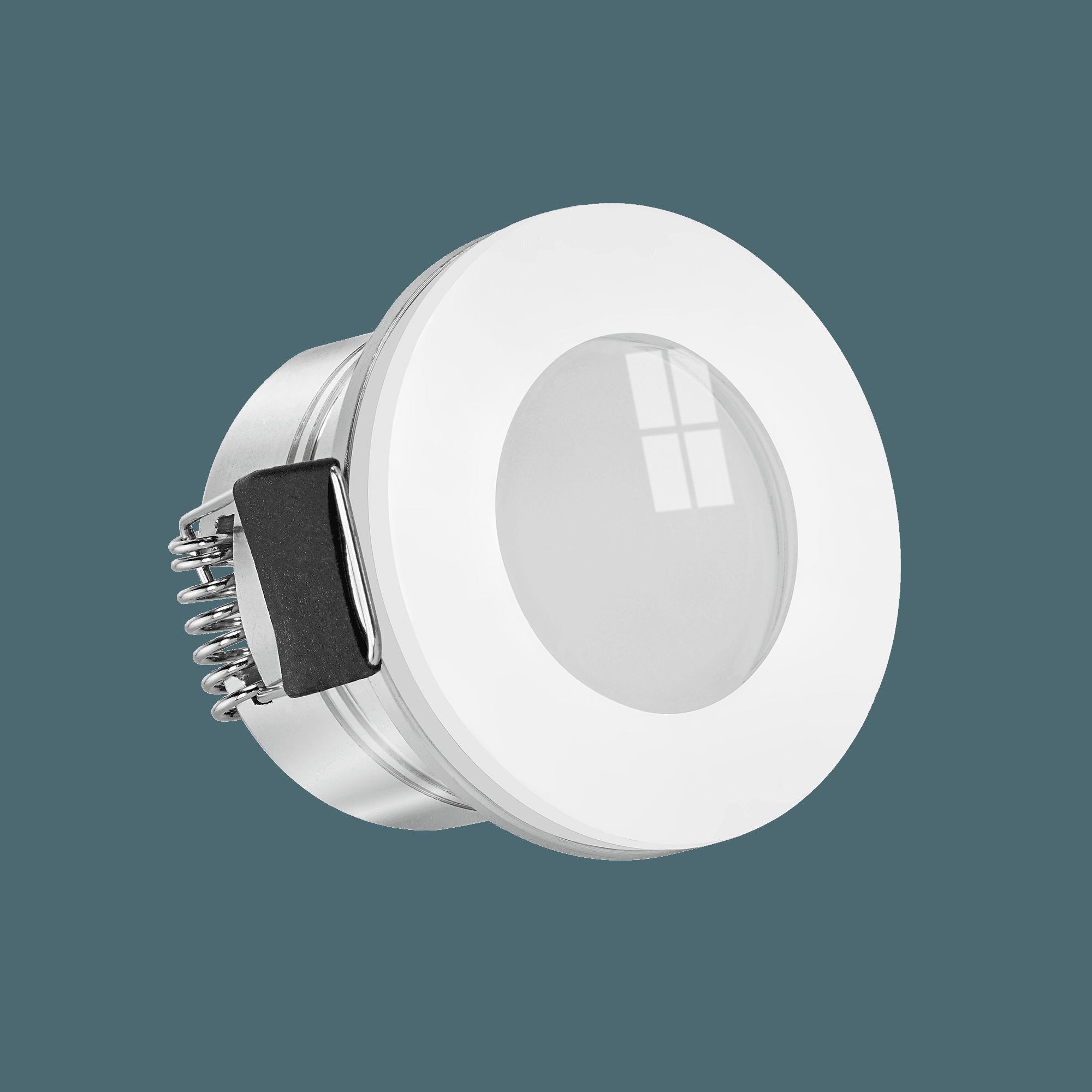 Mini Einbaustrahler StarLED Sonne & Mond weiß DC 20V leuchtet vorne &  seitlich Aluminium 20,20W auch für Smart Home   KNX, DALI, usw. IP20