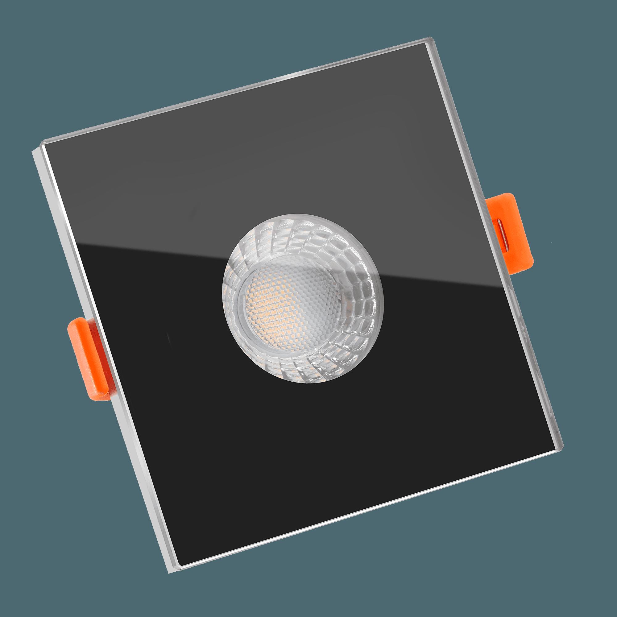 smart home 24v bad led einbaustrahler glas eckig 25mm. Black Bedroom Furniture Sets. Home Design Ideas